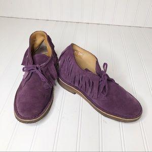 Clarks Purple Fringe Desert Chucka Boots.  7.5